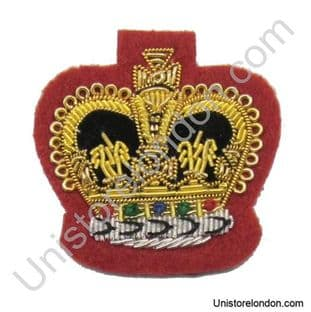 Badge crown Gold on Red size 1 1/2'' R340