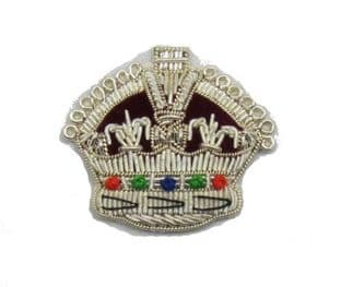 Badge Crown King's Crown Silver High Quality R734