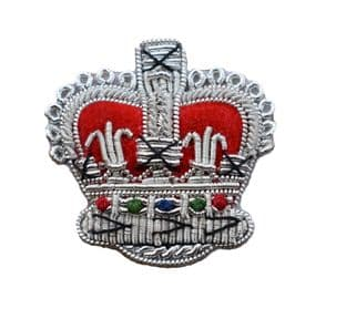 Badge Crown Silver High Quality size 32mm R1860
