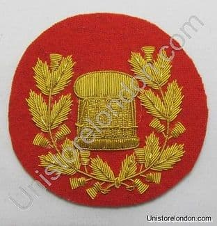 Badge Drum Major Gold on Red Pipe Band R1217