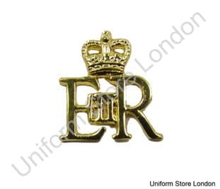 Badge Gold EIIR & Crown Size 25 x25 mm Sold Each R1502