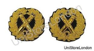Badge Gold Wreath Crossed Tipstaves With Blue Tips R1418