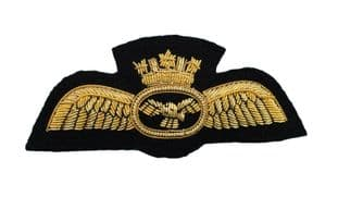 Badge Pilot Wings With Crown Gold Airline Wings