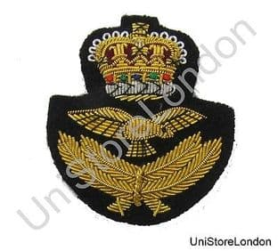 Badge RAF Officer's Beret Badge With Queen's Crown R945
