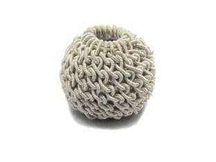 Ball Top Silver crochet knitted for Aiguillette Sold EachR1689