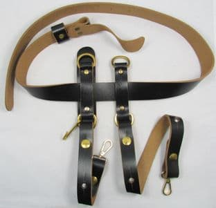 Belt Civil War Western Gun Belt & Sword Hangers Black No Buckle R1656-1657