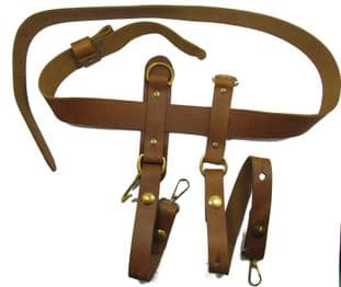 Belt Civil War Western Gun Belt & Sword Hangers Tan Brown No Buckle R1653-1654