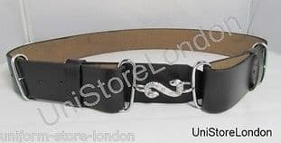 Belt Snake Buckle Belt Chrome Snake Buckle Black R711