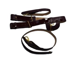Belt Sword Belt Brown Patent leather Long & Short Slings 45 mm Wide