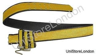 Belt Sword Belt Gold on Black Leather R1398