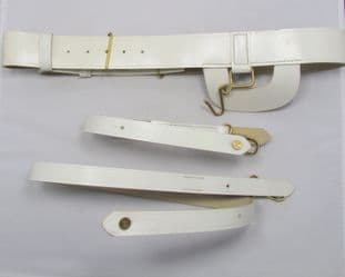 Belt Sword Belt White PVC  Brown backing Without Buckle Long & Short Sling R1666