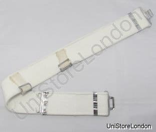 Belt White Ploy Cotton Web Belt 1937 Pattern 2 1/4''  Size up to 40 R1187