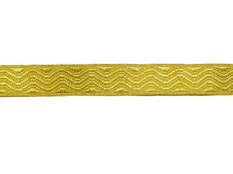 Braid Gold Mylar 19mm Rank Marking Lace Trim Sold by Meter R1661