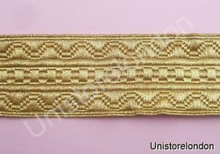 Braid Gold Mylar Mossonic lace 32mm R637