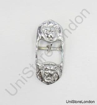 Buckle for Belt Sword Sling Two Lion Heads Chrome 25mm Wide B13 R1438