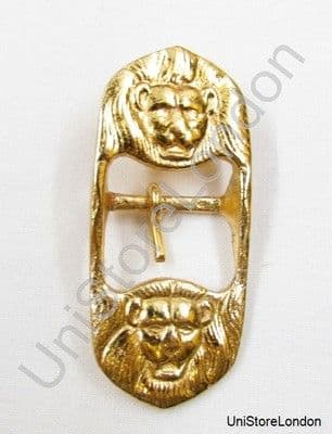 Buckle for Belt Sword Sling Two Lion Heads Gold 25mm Wide New R906
