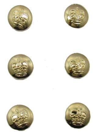 Button Gold St Edward Crown 14 mm Sold Pack of 6 R1877
