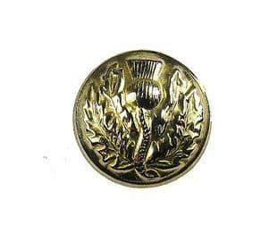 Button Thistle Gold 19mm Medium Pack of 6 R1499