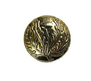 Button Thistle Gold 24mm Medium Pack of 6 R1498