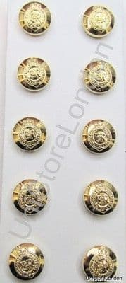 Buttons Military Army Service EІІR Buttons Gold Stay Bright 14mm PK10 R832