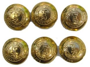 Buttons Military Royal Engineers Gold Size 20mm PKT-6 R687