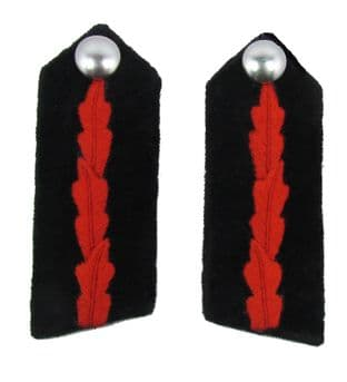 CFO SD Gorgets Chief Fire Officer Black Red R1572