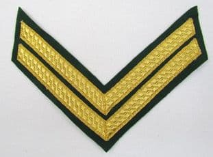 Chevron 2 Gold Bars on Green R872