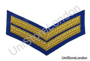 Chevron Corporal Gold on Royal Blue 150mm 2 Bars Wide R1391