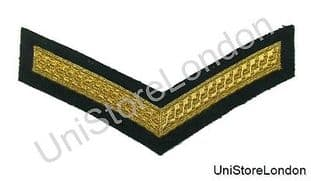 Chevron Lance Corporal Gold on Green  150mm Wide 1 Bar  R1392