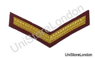 Chevron Lance Corporal Gold on Maroon  150mm Wide 1 Bar  R1388