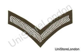 Chevron Lance Corporal Stripes Future Army Dress FAD Military Rank 1 Bar R782