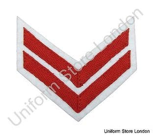 Chevron Red on White 100mm Wide 2 Bars  R1559