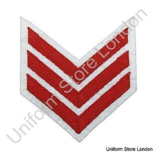 Chevron Red on White 100mm Wide 3 Bars  R1560