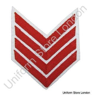 Chevron Red on White 100mm Wide 4 Bars  R1561