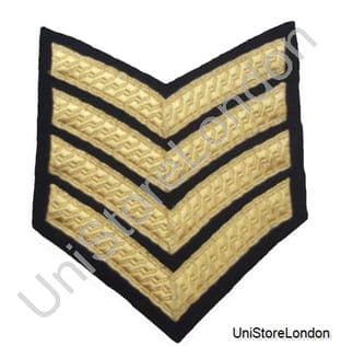 CHEVRONS STRIPES GOLD BLACK  4 BARS 100mm WIDE R532