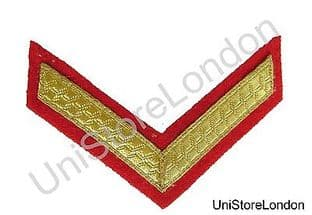 CHEVRONS STRIPES GOLD RED 1 BAR 100mm WIDE R1495