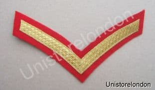 CHEVRONS STRIPES GOLD RED  1 BAR 150mm WIDE R525