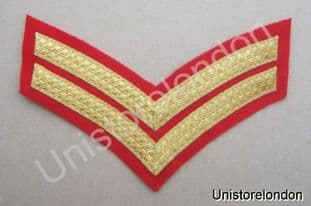 CHEVRONS STRIPES GOLD RED  2 BAR 150mm WIDE R526