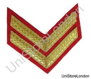 CHEVRONS STRIPES GOLD RED 2 BARS 100mm WIDE R1496