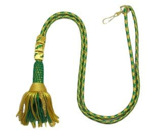 Cord Green & Gold Rope Bishops Tassle Liturgical Cord Cincture for Cross R1865