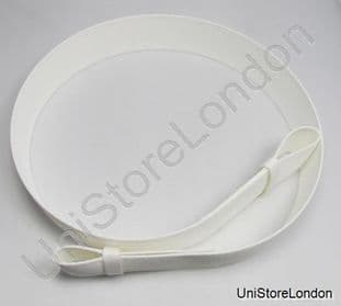 Courlene Belt White 2 Loops 57mm  without Buckle R518