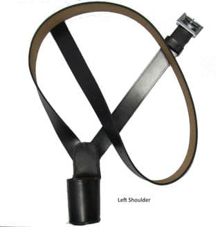 Cross Belt,Flag Carrier,Belt Flag Holder, Black Left Shoulder R1827