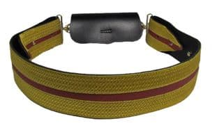 Cross Belt Gold Red Gold on Black Leather  R2000
