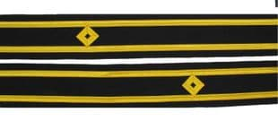 Cuff Braid Diamond Gold Second Officer Second Mate Deck Lieutenant-Lt Sold Pair R1918