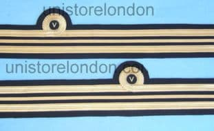 Cuff Rank Sleeve 1Curl,Gold wire V in Curl Lt Cde R385