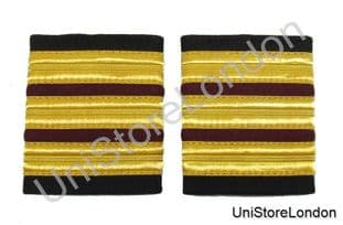 Epaulette,3 x 1/2 Gold with2x1/4inch Maroon R154