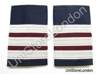 Epaulette,3 x 1/2 Silver with2x1/4inch Maroon engineer R982