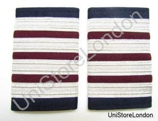 Epaulette,4 x 1/2 Silver with 3 x1/4inch Maroon engineer R981