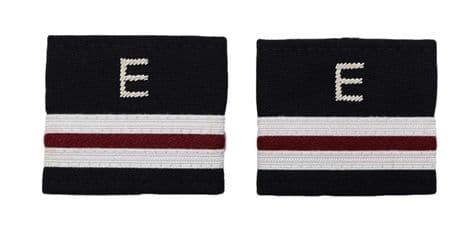 Epaulette Aircraft Engineers 2 x 1/4 Silver-Maroon with silver E