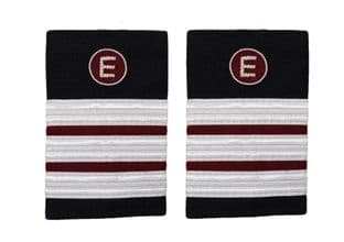 Epaulette Aircraft Engineers 3 x 1/2 Silver-Maroon with E on Maroon